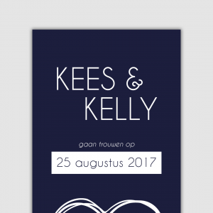 Trouwkaart Kees & Kelly
