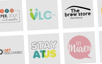 Het hele ontwerpproces bij een logo